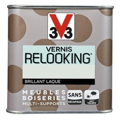 V33 Vernis Relooking Gris nuage Brillant Laque