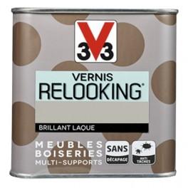 V33 Vernis Relooking Ficelle Brillant Laque