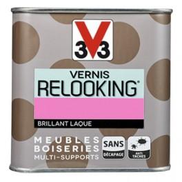 V33 Vernis Relooking Rose fluo Brillant Laque