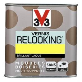 V33 Vernis Relooking Jaune fluo Brillant Laque