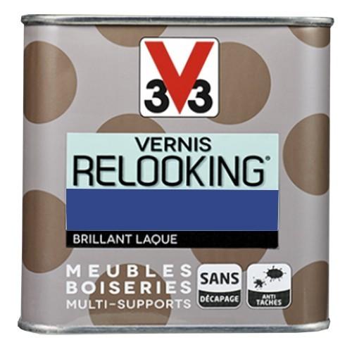 V33 Vernis Relooking Bleu électrique Brillant Laque