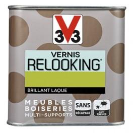 V33 Vernis Relooking Vert disco Brillant Laque
