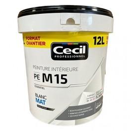 CÉCIL Peinture PE M15 Blanc Mat 12L