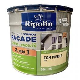 Peinture Façade XPro3 pour crépis & enduits RIPOLIN 10L Ton Pierre