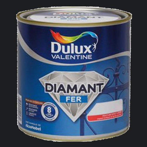 Peinture DULUX VALENTINE Diamant Fer Noir Brillant