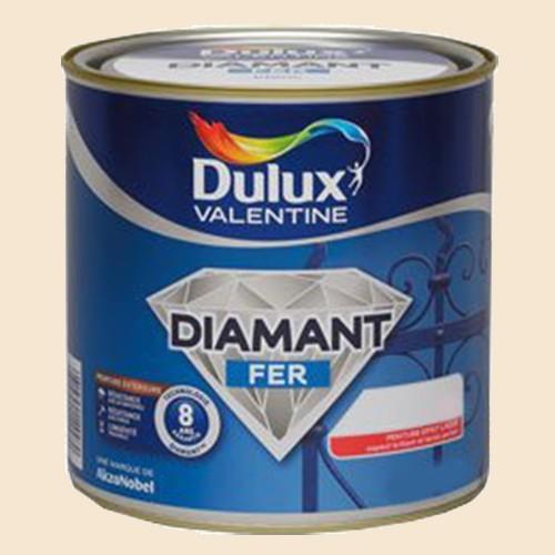 Peinture DULUX VALENTINE Diamant Fer Blanc Cassé Brillant