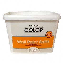 Peinture Murale Studio Color Blanc Satin 5l