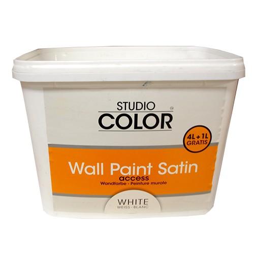 peinture murale studio color blanc satin 5l pas cher en ligne. Black Bedroom Furniture Sets. Home Design Ideas