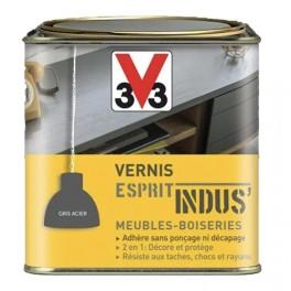 Vernis Esprit Indus' V33 Gris acier métallisé