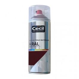 Peinture Aérosol Tous matériaux Cécil Professionnel PA RAL Brun rouge satin (RAL 8012)