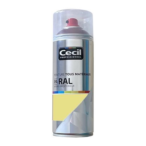 Peinture Aérosol Tous matériaux Cécil Professionnel PA RAL Ivoire satin (RAL 1015)