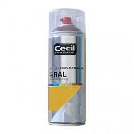 Peinture Aérosol Tous matériaux Cécil Professionnel PA RAL Jaune satin (RAL 1004)