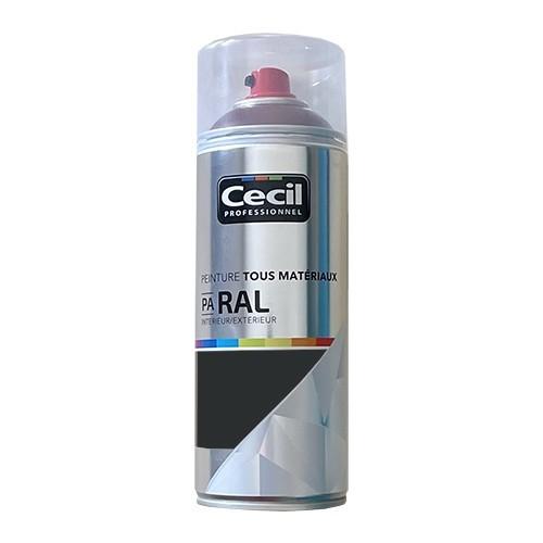 Peinture Aérosol Tous matériaux Cécil Professionnel PA RAL Brun gris satin (RAL 8019)