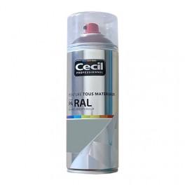 Peinture Aérosol Tous matériaux Cécil Professionnel PA RAL Gris galet satin (RAL 7045)