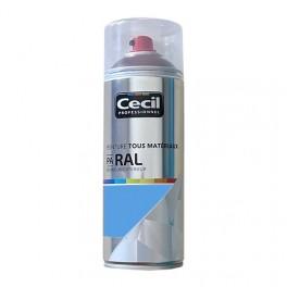 Peinture Aérosol Tous matériaux Cécil Professionnel PA RAL Bleu clair satin (RAL 5012)