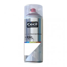 Peinture Aérosol Tous matériaux Cécil Professionnel PA RAL Blanc mat (RAL 9016)
