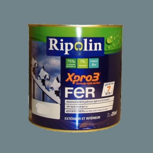 Ripolin xpro3 fer gris bleut pas cher en ligne - Peinture grise pas cher ...