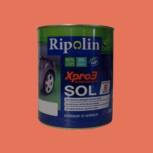 Peinture RIPOLIN Xpro3 Sol Terre Cuite Satin