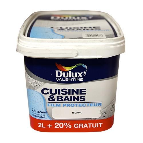 Dulux Valentine Cuisine Et Salle De Bains Blanc Satin 2 4l Pas Cher