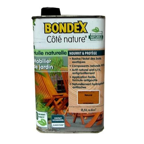 Bondex c t nature huile mobilier de jardin naturel pas for Mobilier de jardin bois pas cher