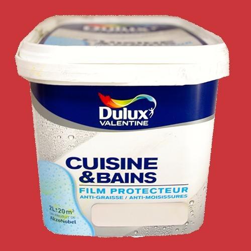 Dulux valentine peinture acrylique cuisine et salle de bains rouge andalou satin 2l pas cher en - Peinture cuisine pas cher ...