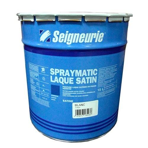 SEIGNEURIE Peinture Spraymatic Laque Satin Blanc 15L