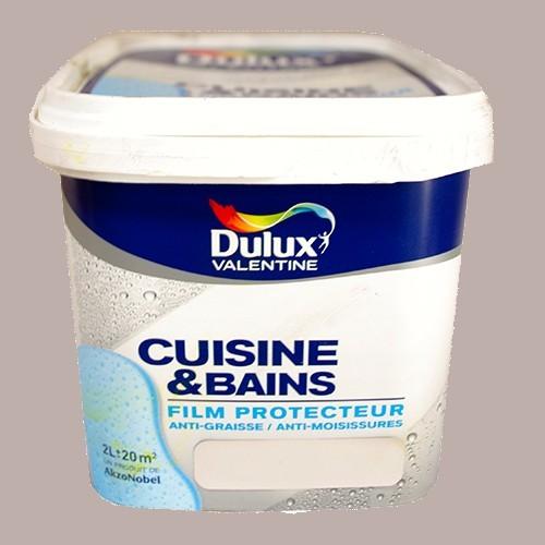 DULUX VALENTINE Peinture Acrylique Cuisine et Salle de Bains Marron glacé Satin 2L