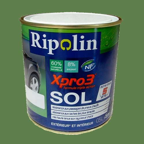 Peinture ripolin xpro3 sol lichen satin pas cher en ligne for Peinture sol exterieur etanche