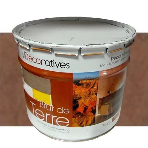 Les décoratives Enduit Brut de terre - Décor Minéral lave 15 kgs