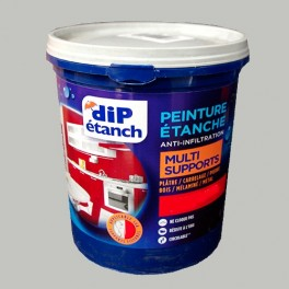 DIP Peinture Étanche Acrylique Multi-Supports Gris Galet