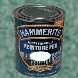 Peinture Fer Hammerite Direct sur Rouille Vert Jade Martelé