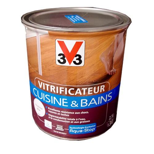 V33 vitrificateur cuisine bains 2 5l incolore cir pas - V33 cuisine et bain ...