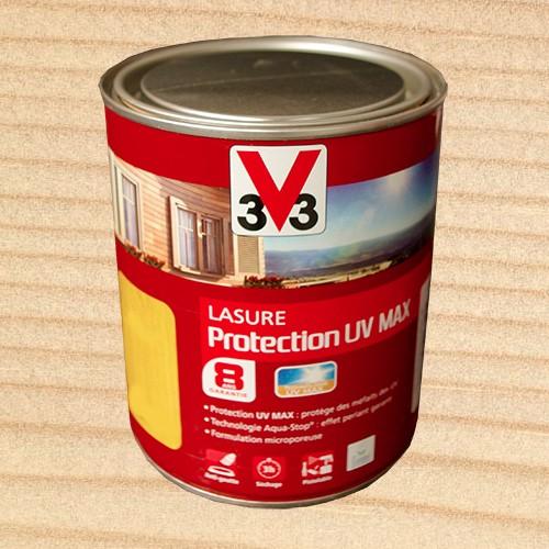 v33 lasure protection uv max 8ans incolore pas cher en ligne. Black Bedroom Furniture Sets. Home Design Ideas