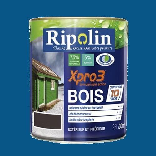 Ripolin peinture xpro3 bois bleu marine pas cher en ligne for Peinture exterieur pas cher