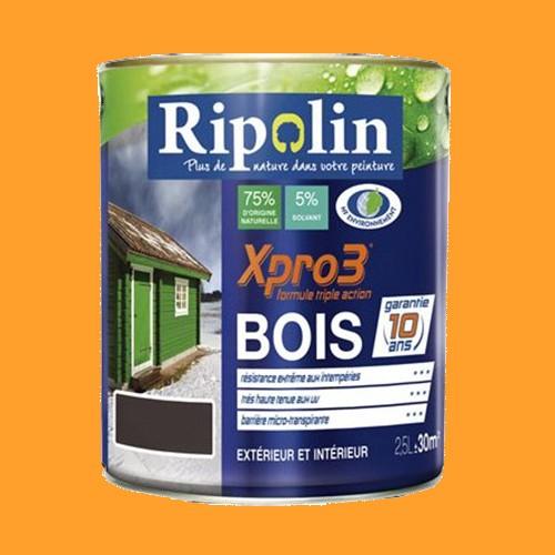 Ripolin peinture xpro3 bois jaune d 39 or pas cher en ligne for Peinture exterieur pas cher
