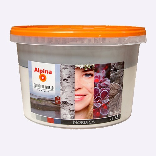 ALPINA Peinture acrylique Mate Nordica Light 2,5L