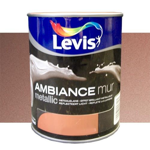 Peinture levis ambiance mur metallic jaspis 1l pas cher en ligne - Peinture pas cher mur ...