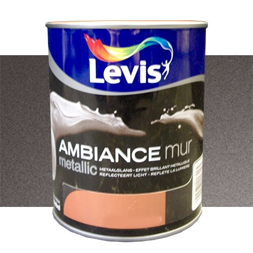 Peinture levis ambiance mur metallic obsidian 1l pas cher - Peinture pas cher mur ...