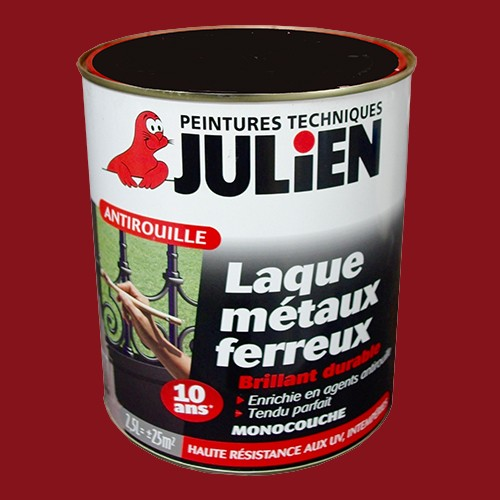 peinture julien antirouille laque m taux ferreux rouge basque brillant 2 5l pas cher en ligne. Black Bedroom Furniture Sets. Home Design Ideas