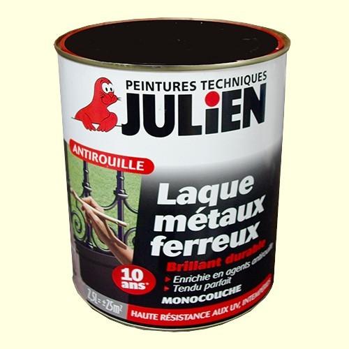 peinture julien antirouille laque métaux ferreux bleu zinc