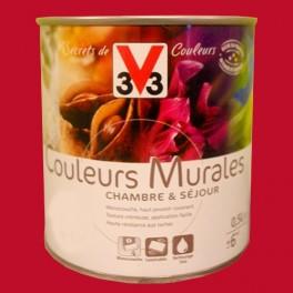 Peinture V33 Couleurs Murales Satin Rouge Harissa
