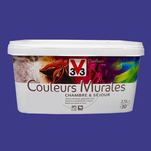 peinture v33 couleurs murales satin bleuet d 39 inde pas cher en ligne. Black Bedroom Furniture Sets. Home Design Ideas