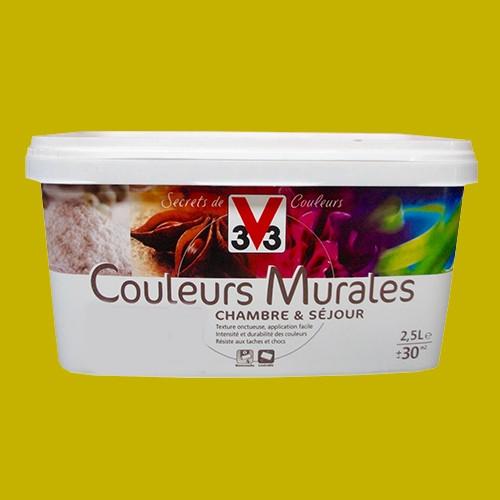 Peinture v33 couleurs murales satin carambole pas cher en - Materiel peinture acrylique pas cher ...