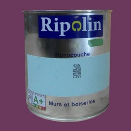 Ripolin peinture murs et boiseries satin prune fonc e pas cher en ligne - Peinture mur pas cher ...