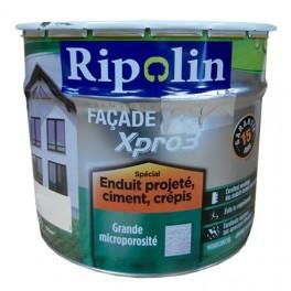 RIPOLIN Peinture Façade XPro3 Spécial enduit projeté, ciment, crépis 10L Blanc