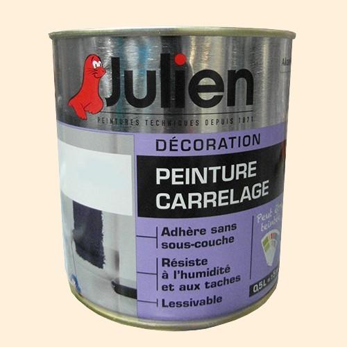 peinture acrylique carrelage julien blanc cass 0 5l brillant peinture destock. Black Bedroom Furniture Sets. Home Design Ideas