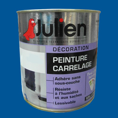 peinture acrylique carrelage julien bleu officier 0 5l brillant peinture destock. Black Bedroom Furniture Sets. Home Design Ideas