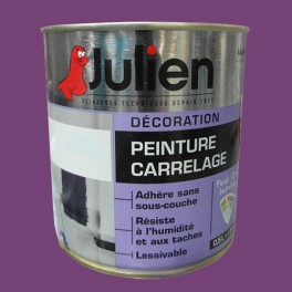 Peinture acrylique carrelage julien prune 0 5l brillant for Peinture julien carrelage
