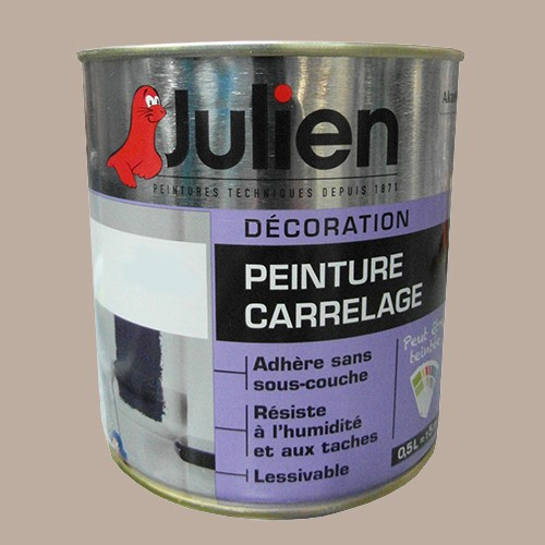 peinture acrylique carrelage julien marron glac 0 5l brillant peinture destock. Black Bedroom Furniture Sets. Home Design Ideas