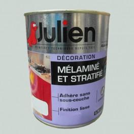 Peinture acrylique Mélaminé et Stratifié Julien Gris Perle 0,75L Satin